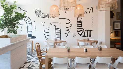 Murals by Ryan Trott seen at Common House, Charlottesville - Acrylic Mural