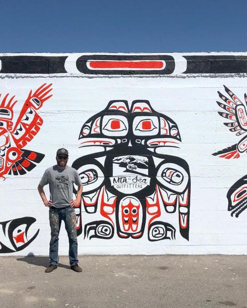 Street Murals by Josh Scheuerman seen at Salt Lake City, Salt Lake City - Pacific North West Mural