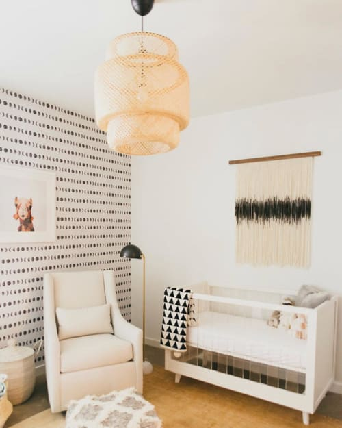Wall Hangings by Lauren Williams at Private Residence, Dallas - Zen