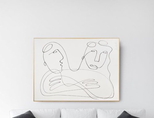 Paintings by Marta Ruiz seen at Private Residence, Madrid - Lovers,2021