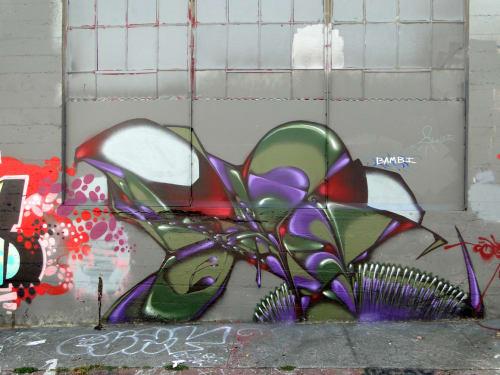 Street Murals by Codak seen at Berwick Place, San Francisco, CA, San Francisco - Slinky
