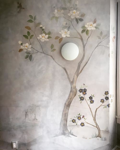 Wall Treatments by Caroline Lizarraga seen at Private Residence, San Francisco - Faded Glory Wall