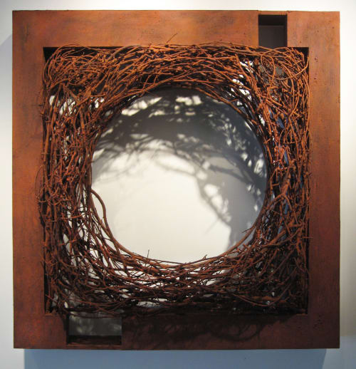 Sculptures by Tamara Robertson at Auntie Pasta's, Nacogdoches - Rust Inspired Wall Sculptures
