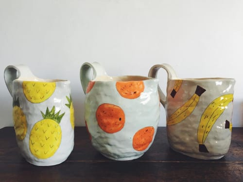 Cups by Gemma Orkin Handmade Ceramics seen at Private Residence, Cape Town - Fruity Ceramic Jug
