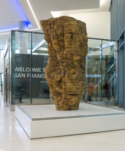 Sculptures by Ursula von Rydingsvard at San Francisco International Airport, San Francisco - Ocean Voices II
