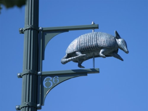 Public Sculptures by Barbara McCarren seen at Santa Monica Boulevard, Los Angeles - Charms