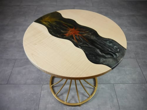 Tables by Julian Szmania seen at Private Residence, Aachen - Fireworks