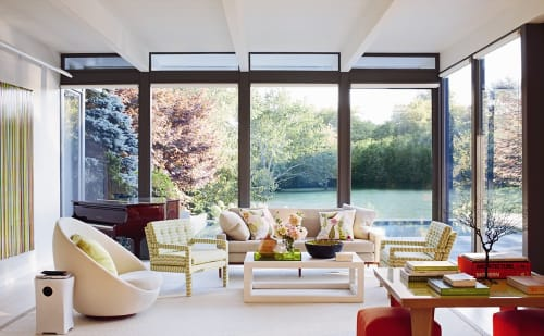 Interior Design by Timothy Whealon seen at Southampton Glass House, Southampton - Interior Design