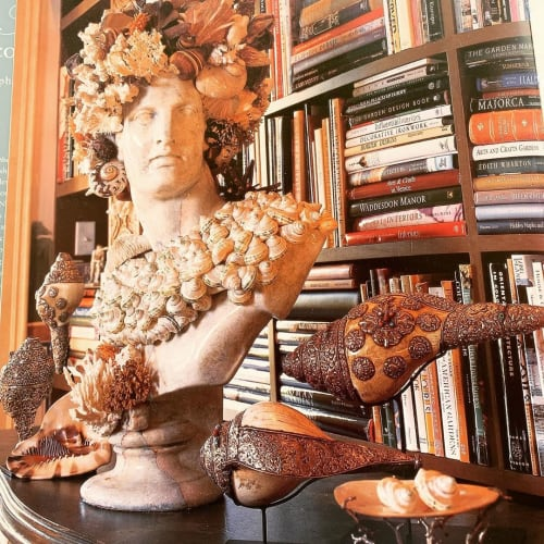 Art & Wall Decor by Christa Wilm seen at Private Residence, Savannah - Shell Art