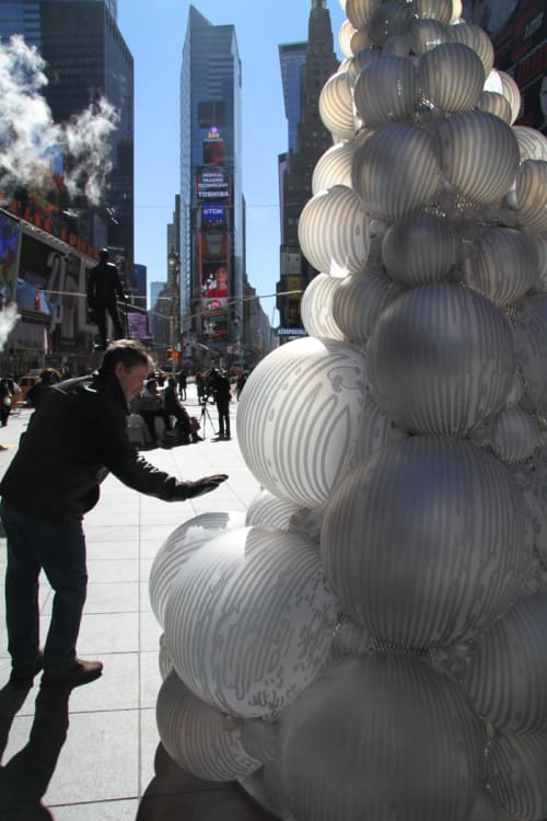 Public Sculptures by Grimanesa Amorós at Time Square, Father Duffy Square, New York - UROS HOUSE