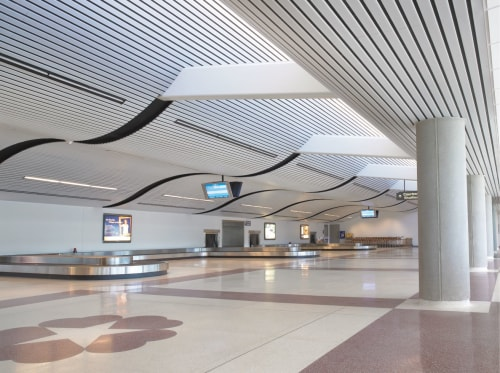 Dallas Love Field Airport, The New Terminal 2, Public Service Centers, Interior Design