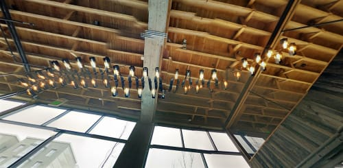 Lighting by Boor Bridges Architecture seen at Sightglass, San Francisco - Incandescent Tube Light Fixture