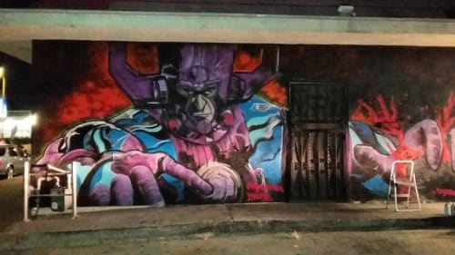 Street Murals by Dynamick seen at The Gabba Gallery - Los Angeles, CA, Los Angeles - Galactus Mural