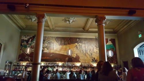 Murals by Mindy Lehrman Cameron seen at Bix, San Francisco - Bix Supper Club Mural