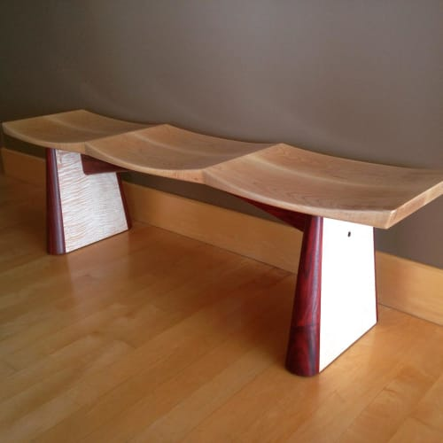 Benches & Ottomans by Roger Combs Woodworker seen at Private Residence, San Francisco - Butterfly Bench