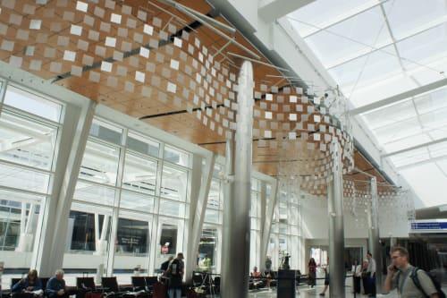 Sculptures by Tim Prentice seen at General Mitchell International Airport, Milwaukee - Slalom