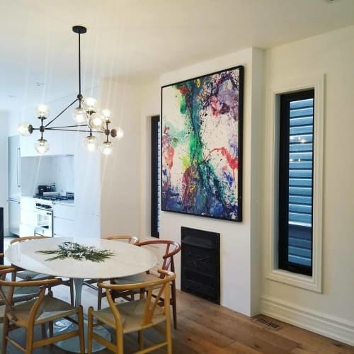 Paintings by Peter Triantos seen at Private Residence, Toronto - Mars #6