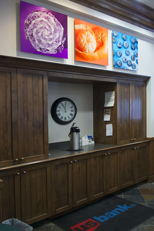 Photography by Paulette Phlipot seen at U.S. Bank Branch Ketchum, Ketchum - Purple Cabbage, Clementine & Blueberries