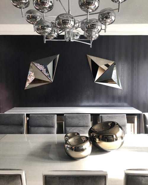Wall Hangings by Robert Sukrachand seen at Private Residence, New York - Volume Mirror