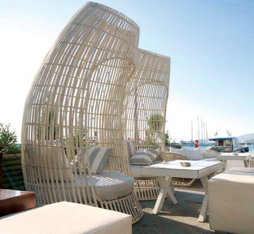 Chairs by Kenneth Cobonpue seen at Drops Cafe Bar, Volos, Greece - Lolah Capsule and Sofa