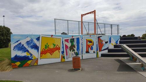 Street Murals by Anne McDonald seen at Rolleston Reserve, Rolleston - Street Mural