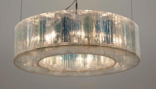 Chandeliers by McEwen Lighting Studio seen at Private Residence, Saint Helena - Vellum Suspension