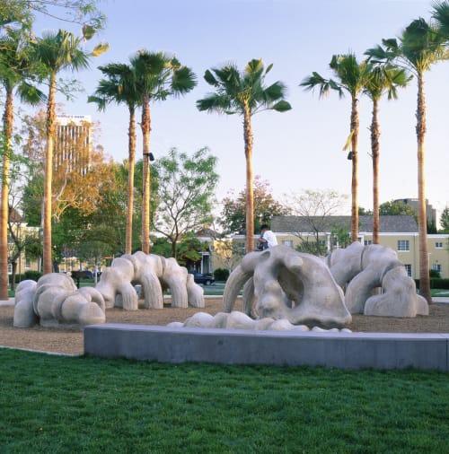 Sculptures by Oleg Lobykin seen at Park La Brea Apartments, Los Angeles - Park La Brea Playground Sculpture