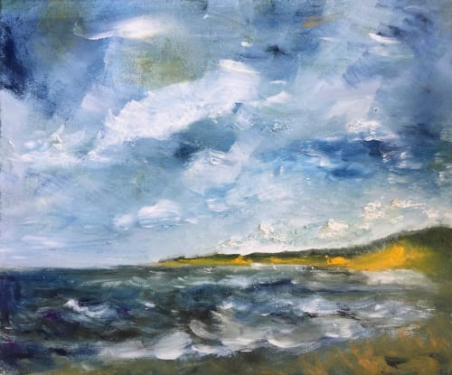 Paintings by Roger Clarke Art seen at Private Residence, Newstead - Llantwit Beach towards St Donat's