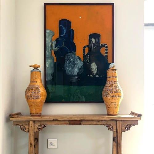 Paintings by Jan du toit seen at Spier Wine Farm, Stellenbosch - Painting