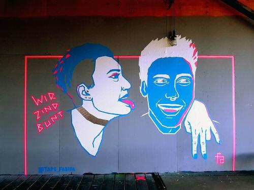 """Tape Art Mural """"We Are Colorful""""   Murals by Fabifa   ZK/U (Zentrum für Kunst und Urbanistik) in Berlin"""