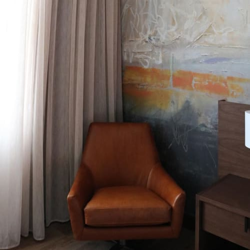 "Paintings by Karen Darling seen at The Hotel at Midtown, Chicago - ""Journey"""