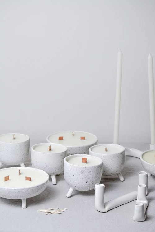 Art & Wall Decor by Stone + Sparrow seen at Private Residence, Pittsburgh - Speckled Candles