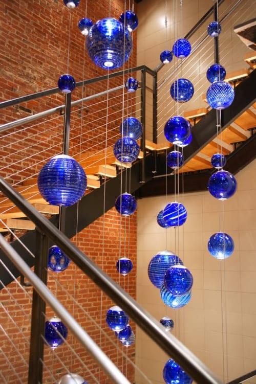 Sculptures by Rock Cottage Glassworks seen at Faultless Brands, Kansas City - Glassblowing Art