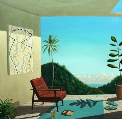 Paintings by Patrick St.Clair seen at Private Residence, Mill Valley - The Near Shore