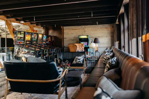 Coin-Op Game Room, Bars, Interior Design