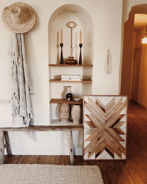 Wall Hangings by Aleksandra Zee at Private Residence, Oakland - Wood Artwork