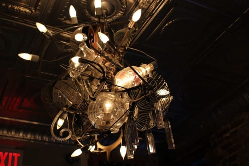 Lighting by Warren Muller seen at Buvette, New York - Buvette Light Sculpture
