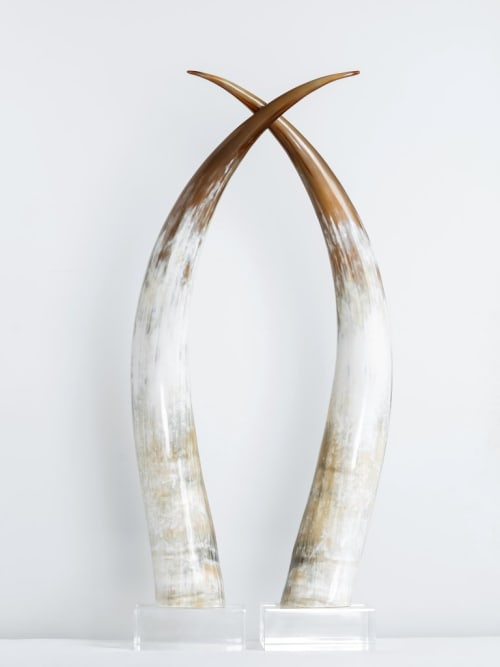 Sculptures by Ankole seen at Private Residence, San Antonio, Texas, San Antonio - Kabaka Horns