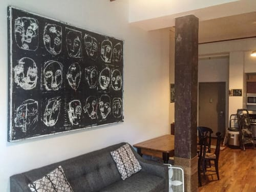 Paintings by Andrew Cotton Art 100% COTTON seen at Private Residence, New York - Abstract Painting