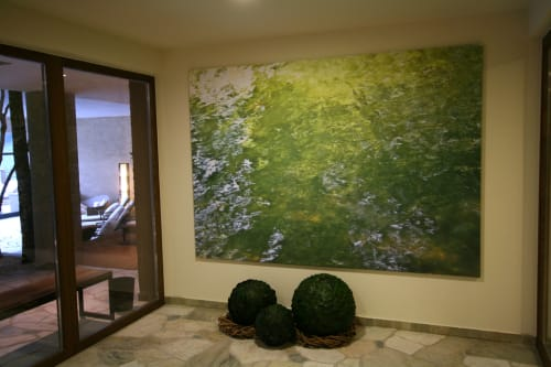 Photography by Rica Belna seen at ANDREUS Golf & Spa Resort, San Leonardo In Passiria - Rica Belna - Water Imagery In Green