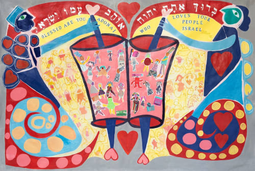 Murals by Jennifer Levine seen at Temple Shalom ELC Preschool - Mural