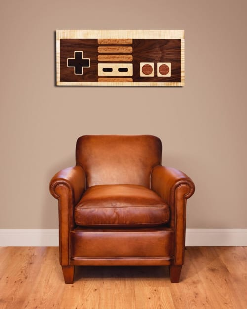 Wall Hangings by Charles Lushear seen at Private Residence In Venice Beach, Los Angeles - 8-bit Retro Gaming Controller