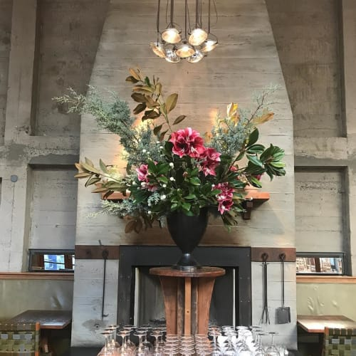 Floral Arrangements by Wallflower Design at Foreign Cinema, San Francisco - Floral Design
