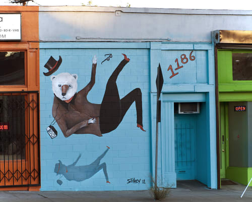 Street Murals by Mike Stilkey at 1186 South La Brea Ave, Los Angeles - La Brea Mural
