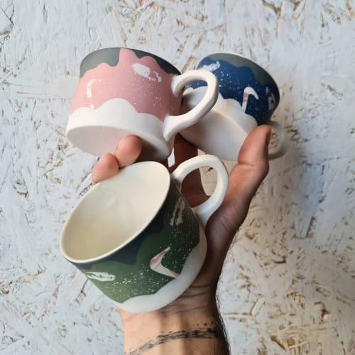 Cups by BasicArtCeramic seen at Creator's Studio, Çanakkale - Basic Christmas