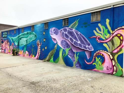 Street Murals by Taylor Reinhold seen at Natural Motion Creations, Santa Cruz - Full Wall Mural