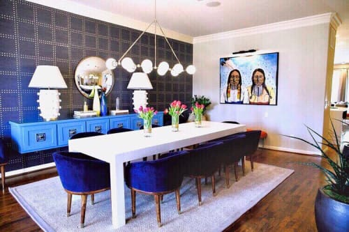 Tables by Graeber Design seen at Private Residence, Nichols Hills - Modern Table