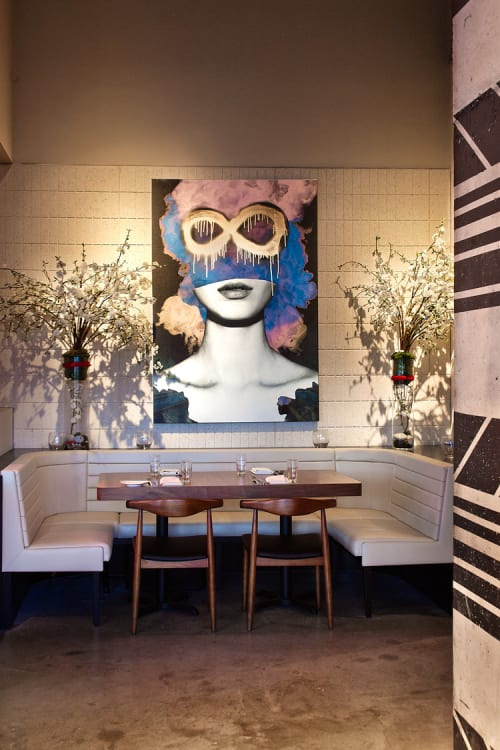 Murals by Jenya Vyguzov seen at STK South Beach, Miami Beach - Beauty Is Infinite