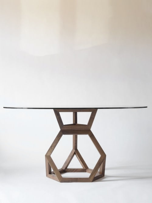 Tables by Robert Sukrachand seen at Private Residence, New York - Tetrahedron Table