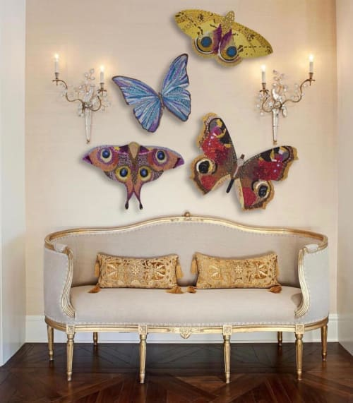 Sculptures by Ashley Longshore seen at Private Residence, New York - Butterfly Wall Sculptures